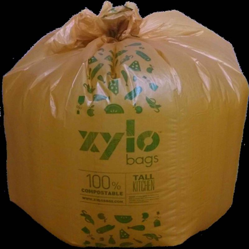 Biodegradable plastic xylo bag for leaves